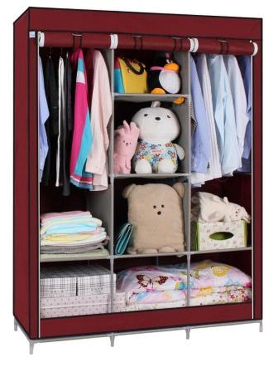 Тканевый шкаф Homsu Онтарио, цвет: бордовый, 130 x 45 x 172 смHOM-99Этот большой тканевый шкаф будет максимально практичным и удобным помощником в создании полноценного порядка благодаря 6 полкам для складывания одежды 40 см на 45 см и двум отделениям для подвешивания одежды. Сборная конструкция такого шкафа состоит из металлических деталей каркаса, обтянутых сверху прочной и лёгкой тканью. Фактический цвет может отличаться от заявленного.