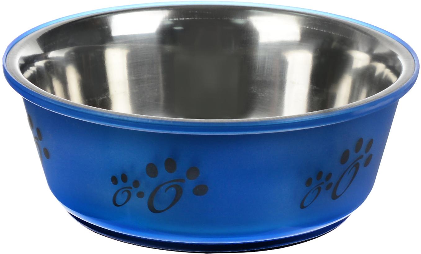 Миска для животных Каскад, цвет: синий, черный, стальной, 350 мл76800138_синий, черный, стальнойМиска для животных Каскад, изготовленная из высококачественного пластика и нержавеющей стали, предназначена для корма и воды. Она порадует удобством использования как самих животных, так и их хозяев. Яркий дизайн придаст изделию индивидуальность и удовлетворит вкус самых взыскательных зоовладельцев. Основание миски снабжено нескользящей резиновой вставкой, благодаря которой она устойчива на любой поверхности. Объем: 350 мл. Диаметр миски (по верхнему краю): 14 см. Диаметр основания: 10 см. Высота миски: 5,5 см.