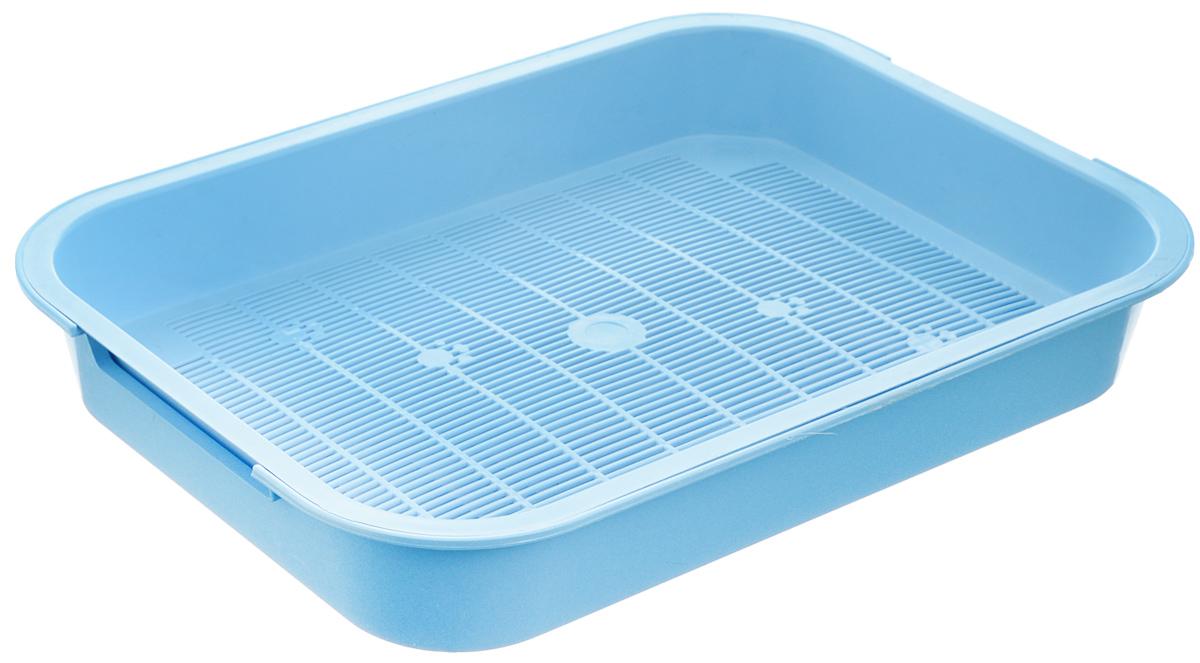 Туалет для кошек Каскад, с сеткой, цвет: голубой, 38 х 28 х 6 см9307034_голубойТуалет для кошек Каскад изготовлен из высококачественного цветного пластика со съемной сеткой. Туалет с сеткой может использоваться как с наполнителем, так и без него. Это самый экономичный и простой в употреблении предмет обихода для кошек и котов. Туалет легко моется водой.