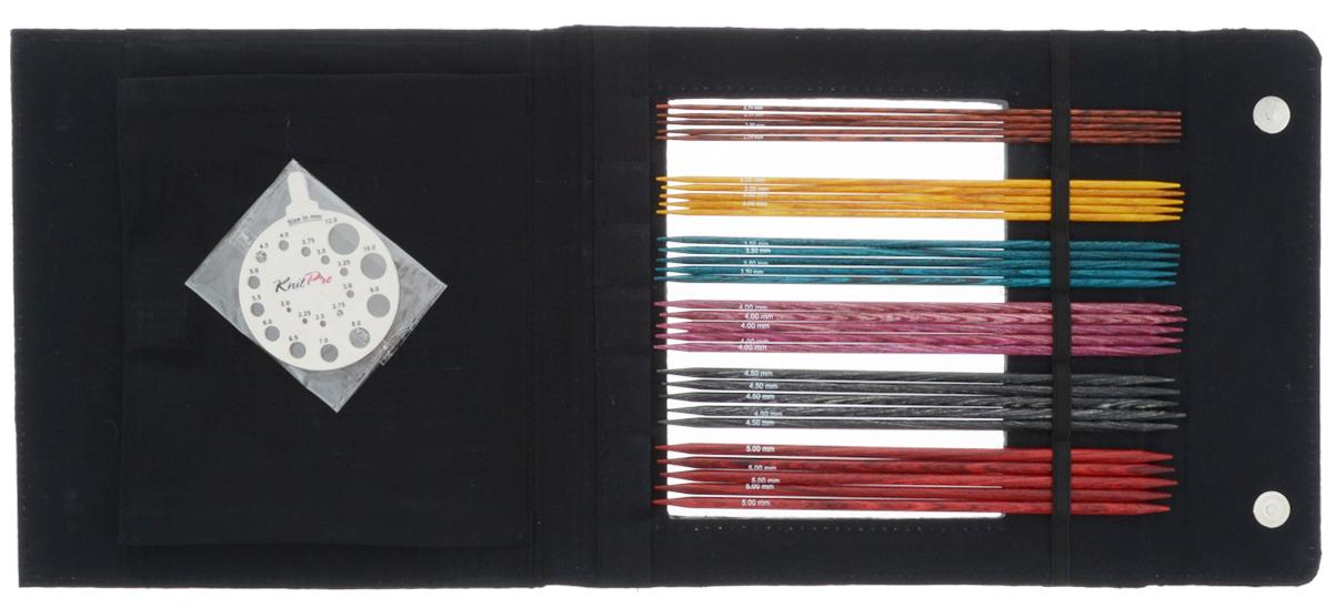 Набор чулочных спиц KnitPro Dreamz, 2,5-5,0 мм, 6 видов90631Набор KnitPro Dreamz состоит из 6 комплектов деревянных чулочных спиц разного диаметра, классификатора размера и оригинального чехла для их хранения. Спицы прочные, легкие, гладкие, удобные в использовании. Деревянные спицы предназначены для вязания чулок, шапочек, варежек, носков и других вещей. Вы сможете вязать для себя и делать подарки друзьям. Рукоделие всегда считалось изысканным, благородным делом. Работа, сделанная своими руками, долго будет радовать вас и ваших близких. Диаметр спиц: 2,5 мм; 3 мм; 3,5 мм; 4 мм; 4,5 мм; 5 мм. Длина спиц: 20 см.