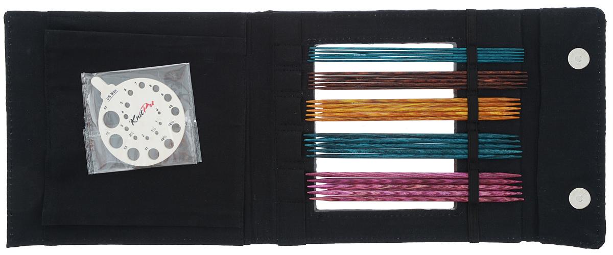 Набор чулочных спиц KnitPro Dreamz, 2,0-4,0 мм, 5 видов90651Набор KnitPro Dreamz состоит из 5 комплектов деревянных чулочных спиц разного диаметра, классификатора размера и оригинального чехла для хранения. Спицы прочные, легкие, гладкие, удобные в использовании. Деревянные спицы предназначены для вязания чулок, шапочек, варежек, носков и других вещей. Вы сможете вязать для себя и делать подарки друзьям. Рукоделие всегда считалось изысканным, благородным делом. Работа, сделанная своими руками, долго будет радовать вас и ваших близких. Диаметр спиц: 2 мм; 2,5 мм; 3 мм; 3,5 мм; 4 мм. Длина спиц: 15 см.