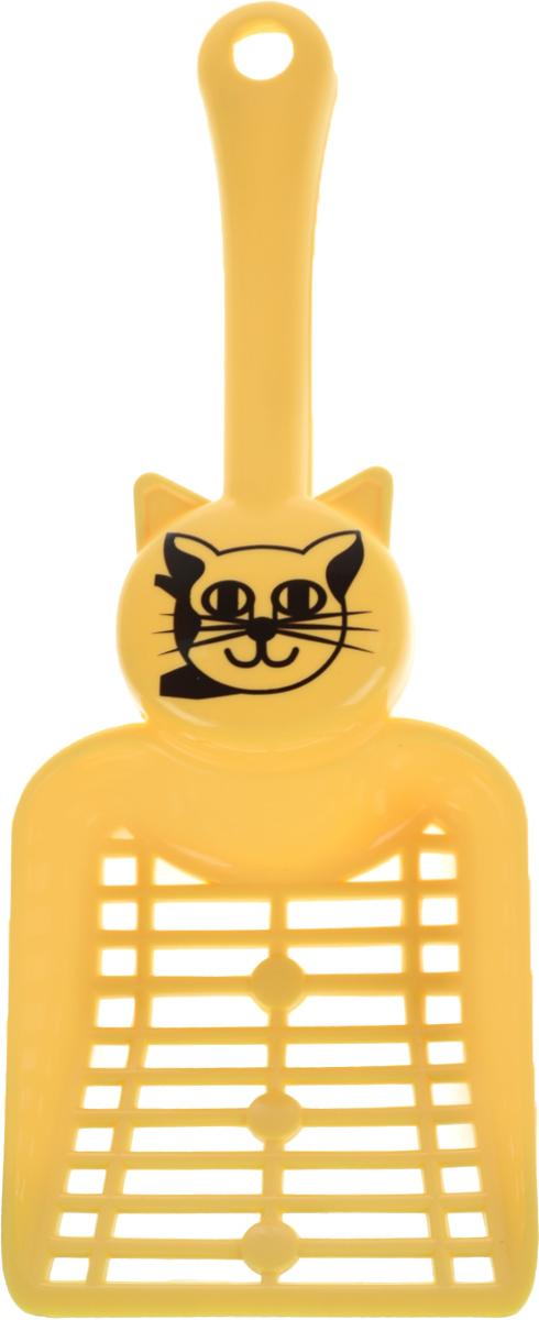 Совок для кошачьего туалета Каскад, цвет: желтый, длина 25 см46304051_желтыйСовок для кошачьего туалета Каскад изготовлен из цветного пластика. Рабочая поверхность совка с мелкой и крупной сеткой позволяет освободить туалет от образовавшихся комков и просеять наполнитель. На ручке совка есть отверстие для подвешивания на стену. С помощью этого совка вы сможете быстро и качественно убрать туалет кошки. Длина совка: 25 см. Размер рабочей поверхности: 9,5 х 8 см.