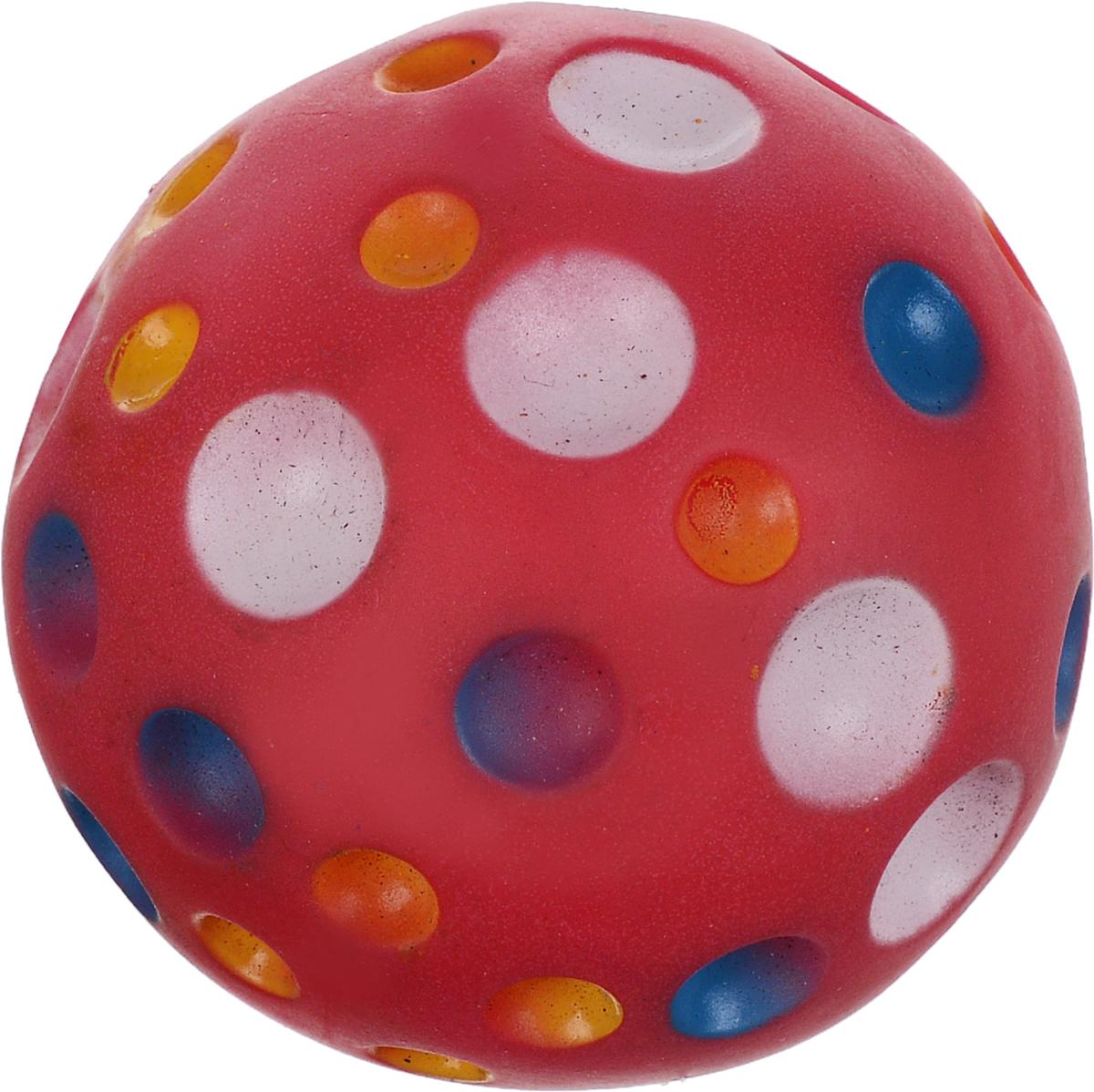 Игрушка для животных Каскад Мяч. Луна, с пищалкой, цвет: красный, белый, синий, диаметр 6 см27754625_красныйИгрушка Каскад Мяч. Луна изготовлена из прочной и долговечной резины, которая устойчива к разгрызанию. Необычная и забавная игрушка прекрасно подойдет для собак, любящих игрушки с пищалками. Диаметр: 6 см.