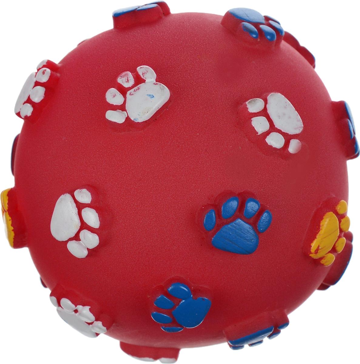 Игрушка для животных Каскад Мяч. Лапки, с пищалкой, цвет: красный, синий, желтый, диаметр 9 см27754623_красныйИгрушка Каскад Мяч. Лапки изготовлена из прочной и долговечной резины, которая устойчива к разгрызанию. Необычная и забавная игрушка прекрасно подойдет для собак, любящих игрушки с пищалками. Диаметр: 9 см.