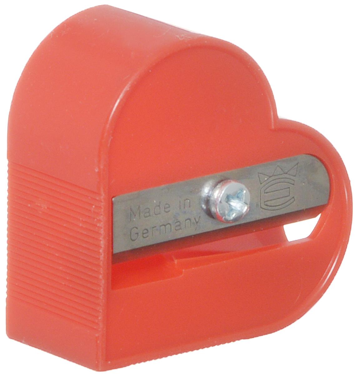 Eisen Точилка Сердце цвет красный111.01.999/BL_красныйТочилка Eisen Сердце предназначена для затачивания классических простых и цветных карандашей. Точилка изготовлена из качественного материала и имеет рельефную область захвата. Острые лезвия обеспечивают высококачественную и точную заточку карандашей.