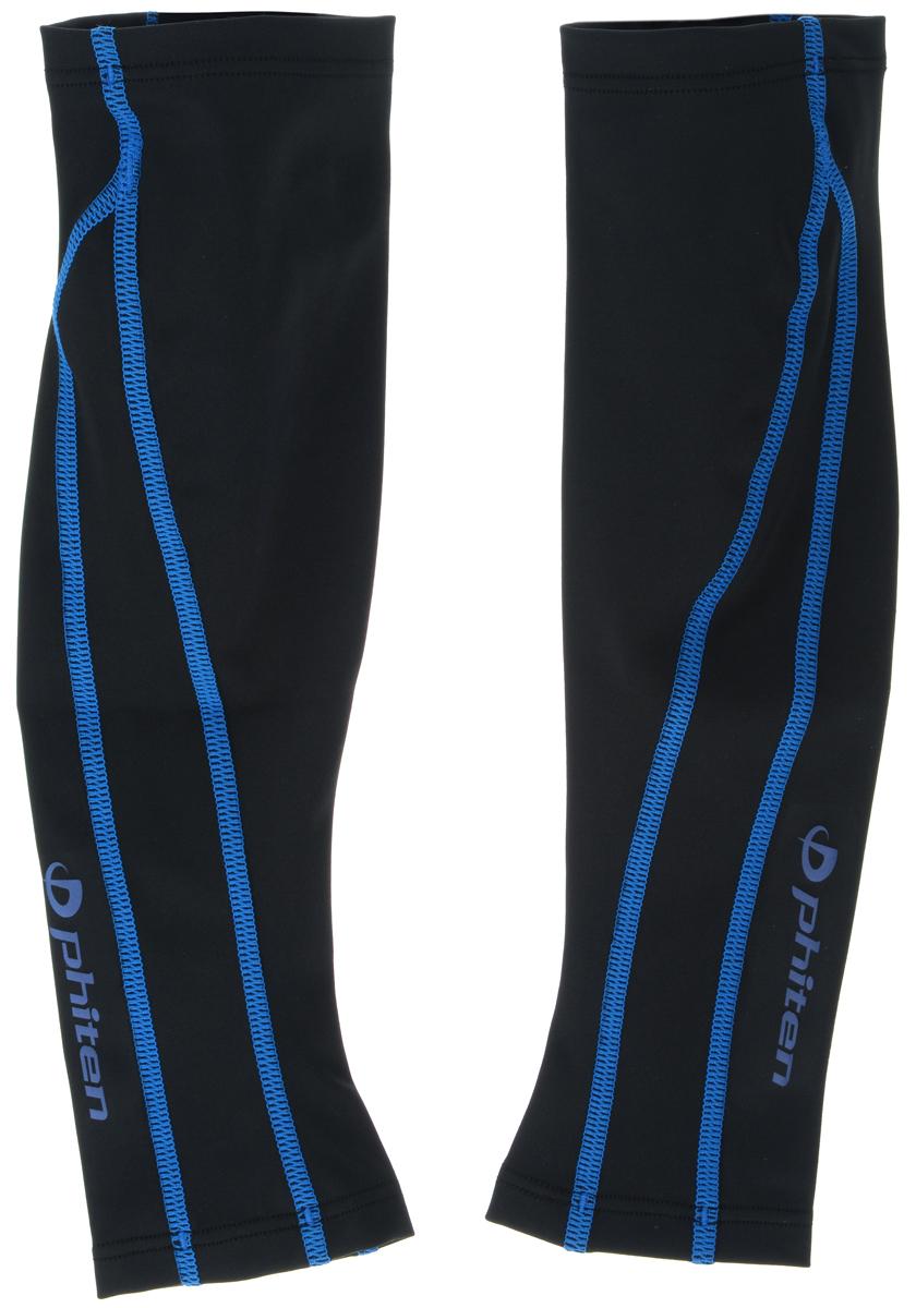 Гетры силовые Phiten X30, цвет: черный, синий. Размер L (36-43 см)SL536305Гетры силовые Phiten X30 с пропиткой из акватитана и специальным давлением поддерживают и увеличивают силу мышц голени, снимают мышечное напряжение, повышают выносливость и силу мышц. Ни для одного опытного спортсмена, пусть даже и любителя, не секрет, что для отличной работы мышцы должны отлично расслабляться и отдыхать! Снять перетренированность и излишнее напряжение, пост-эффекты стресса, переутомления и психической перегрузки помогут гетры Phiten, не только фиксирующие мышцы, но и усиливающие кровообращение и снимающие напряжение. Обхват голени: 36-43 см. Длина гетр: 32 см.