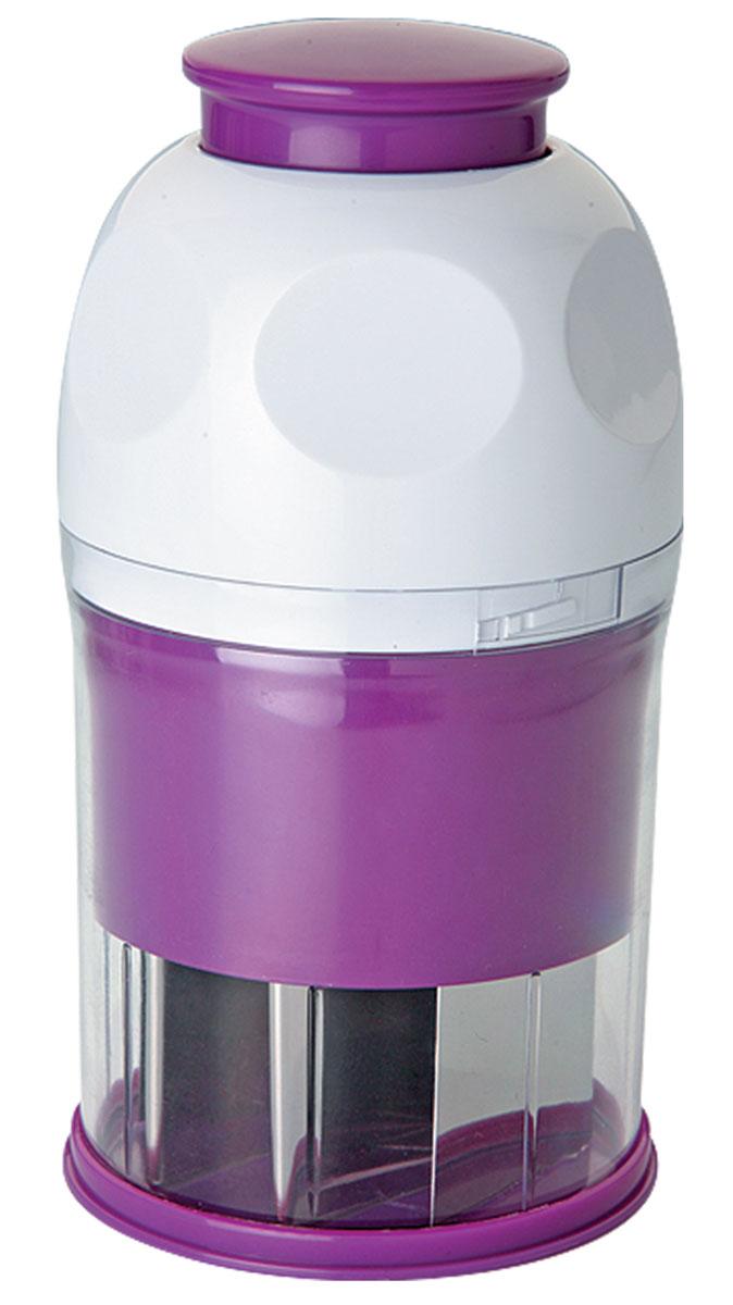 Универсальный измельчитель Augustin Welz, цвет: белый, фиолетовыйAW-2106Измельчитель идеален для шинковки зелени, специй, овощей, лука, чеснока, орехов, шоколада и др.продуктов. Модель имеет складывающуюся ручку для компактного хранения.