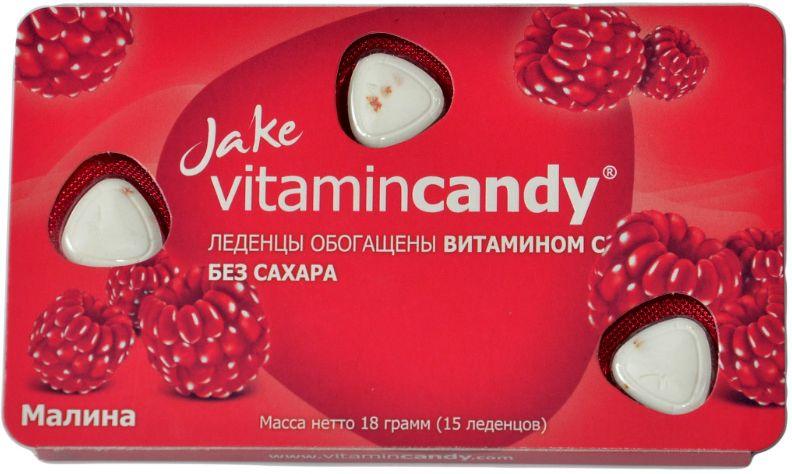 Jake Vitamin C леденцы со вкусом малины, 18 г