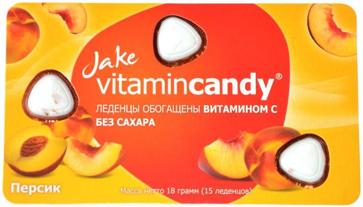 Jake Vitamin C леденцы со вкусом персика, 18 г