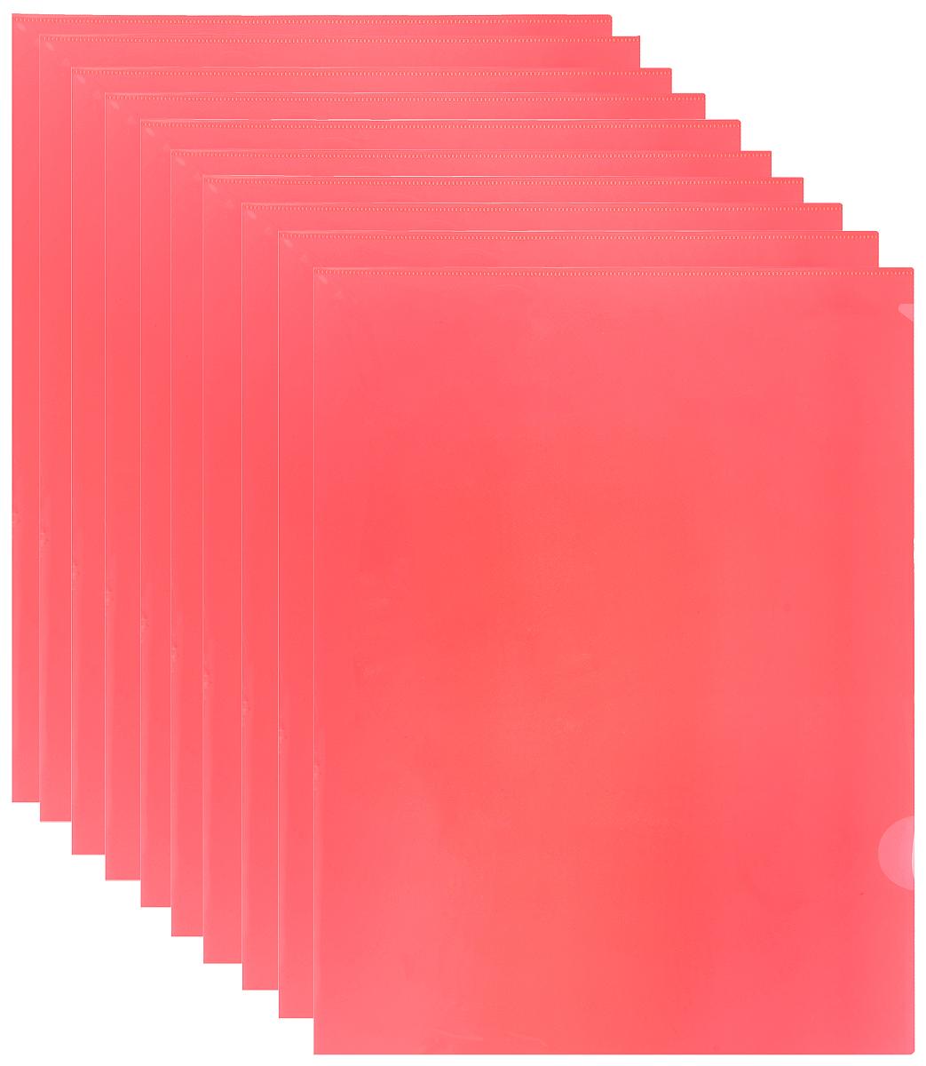 Durable Папка-уголок цвет красный 10 шт