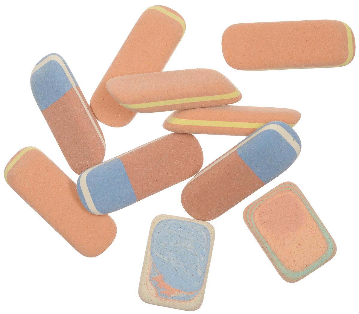 Koh-i-Noor Набор ластиков 10 шт6510Ластики Koh-i-Noor идеально подходят для применения как в школе, так и в офисе. Ластики обеспечивают высокое качество коррекции, не повреждают поверхность бумаги, даже при сильном трении, не оставляют следов. Абсолютно безопасны, не токсичны и экологичны. В упаковке 10 ластиков.