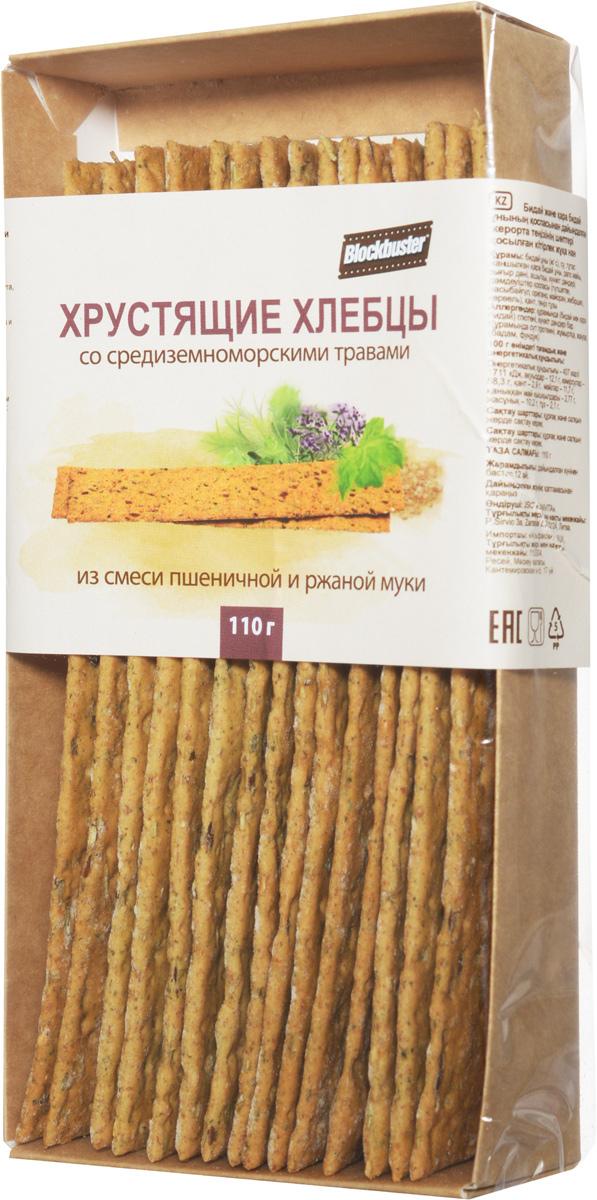 Blockbuster Хлебцы пшеничные хрустящие со средиземноморскими травами, 110 г