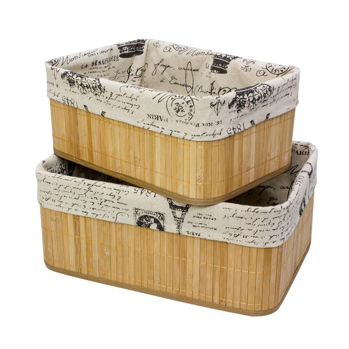 Набор коробов для хранения Ecowoo Газетный стиль, 2 предмета, цвет: светлое деревоBBS-2Марка Ecowoo предлагает новое удобное решение для хранения полезных мелочей - набор универсальных коробов из бамбука. Прекрасная вместительность, экологичный материал и актуальный дизайн - все эти достоинства делают набор незаменимым в любом доме. Модель Газетный стиль