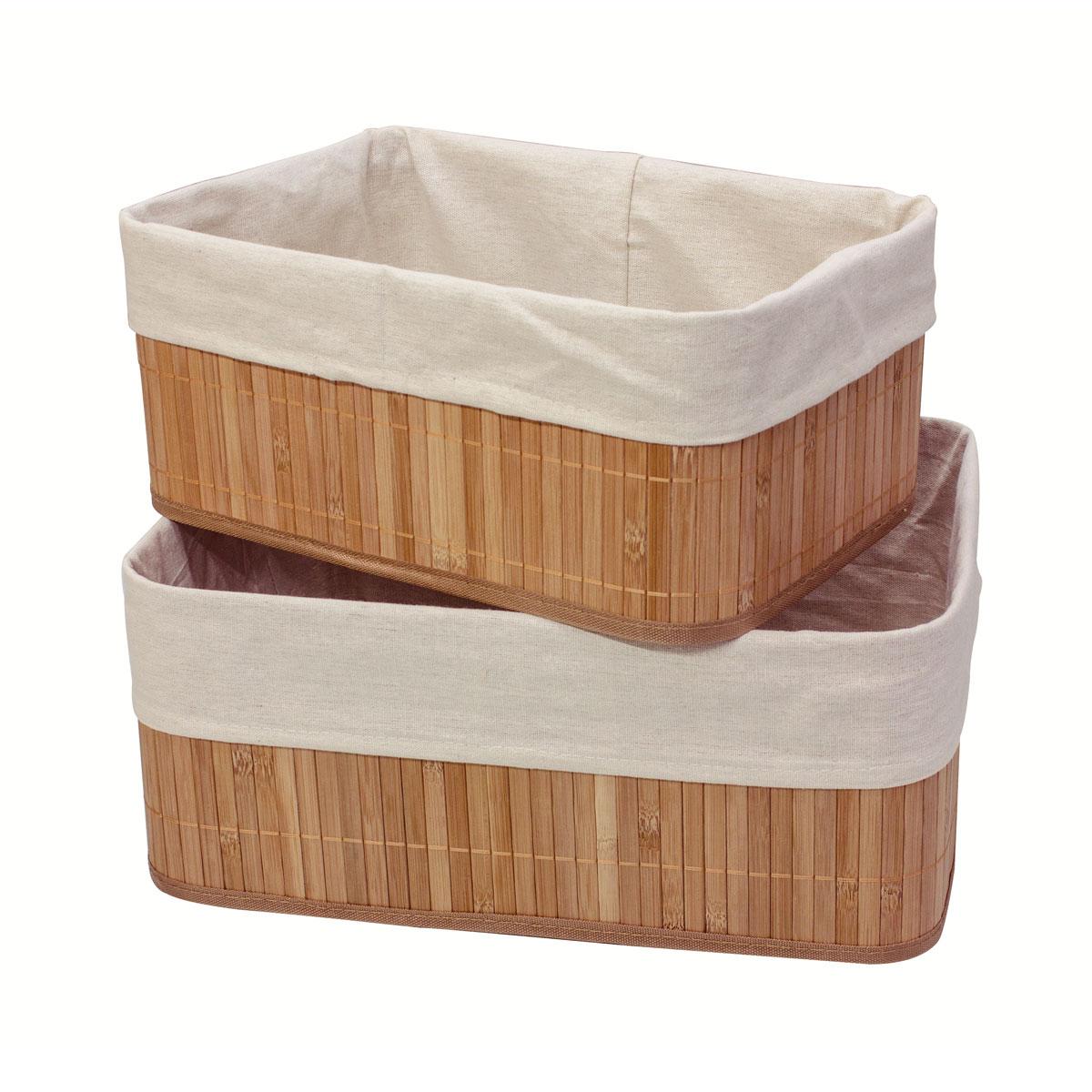 Набор коробов для хранения Ecowoo Нежность, 2 предмета, цвет: светлое деревоBBS-9Марка Ecowoo предлагает новое удобное решение для хранения полезных мелочей - набор универсальных коробов из бамбука. Прекрасная вместительность, экологичный материал и актуальный дизайн - все эти достоинства делают набор незаменимым в любом доме. Модель Нежность