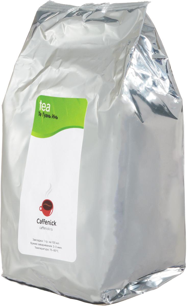 Caffenick Те Гуань Инь зеленый листовой чай, 500 г4610001573128Китайский зеленый чай из провинции Фуззянь. Крупнолистовой, полуферментированный улун. Цвет настоя Те Гуань Инь светло-зеленого цвета, с бирюзовым оттенком. Вкус богатый, освежающий и немного сладковатый.