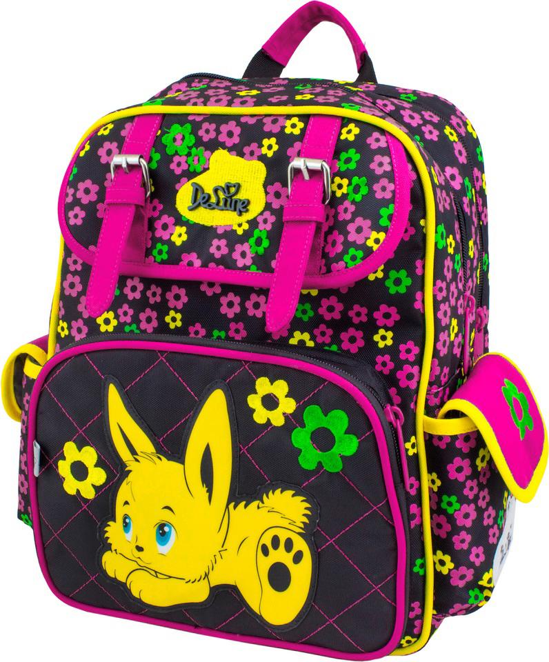 DeLune Рюкзак детский с наполнением цвет черный розовый 2 предмета51-08Бренд DeLune объединил в себе детские интересы и взрослые требования! DeLune - это сказочный бренд, созданный для детей, которые верят в волшебство. Детский рюкзак DeLune имеет мягко-каркасную форму. Рюкзак содержит два вместительных отделения, закрывающиеся на застежки-молнии известной фирмы SBS. В большем отделении находятся две пластиковые перегородки для тетрадей, фиксирующиеся резинкой, а также три открытых сетчатых кармана и нашивная бирка для заполнения личных данных владельца. Дно рюкзака можно сделать более устойчивым, разложив специальную панель. Второе отделение не имеет карманов и предназначено для переноски больших книг и тетрадей формата А4. Внутреннее оснащение рюкзака разработано по специальной системе распределения вещей Open access, что позволяет удобно распределить школьные принадлежности ребенка. Лицевая сторона рюкзака оснащена накладным карманом на застежке-молнии, внутри которого расположен органайзер для канцелярских...