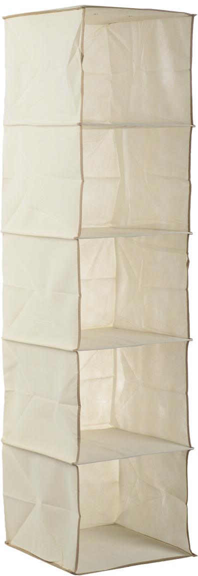 Чехол подвесной Cosatto Voila, цвет: бежевый, 31 х 31 х 120 смCOVLSZT020_бежевыйПодвесной чехол Cosatto Voila изготовлен из дышащего моющегося полиэстера и нетканого материала, прочность каркаса обеспечивается наличием внутри плотных листов картона. Легкая подвесная конструкция с 5 вместительными секциями позволяет удобно хранить одежду, постельное белье, аксессуары или игрушки. Изделие может крепиться на штангу в обычном платяном шкафу или на отдельные напольные или настенные штанги.