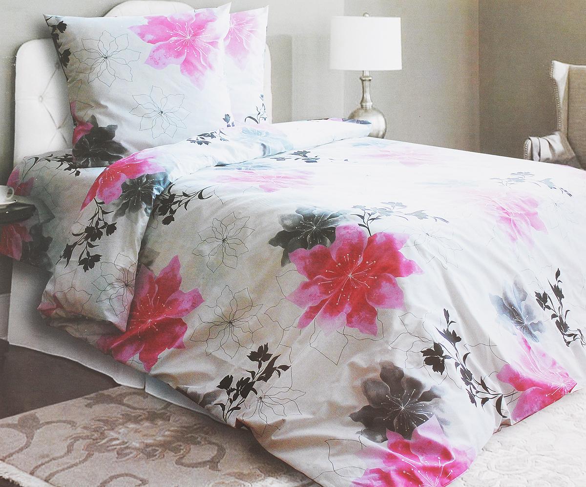 Комплект белья Катюша Аманда, 1,5-спальный, наволочки 70х70, цвет: белый, розовый, черныйC-129/4265Комплект постельного белья Катюша Аманда является экологически безопасным для всей семьи, так как выполнен из бязи (100% хлопок). Комплект состоит из пододеяльника, простыни и двух наволочек. Постельное белье оформлено оригинальным рисунком и имеет изысканный внешний вид. Бязь - это ткань полотняного переплетения, изготовленная из экологически чистого и натурального 100% хлопка. Она прочная, мягкая, обладает низкой сминаемостью, легко стирается и хорошо гладится. Бязь прекрасно пропускает воздух и за ней легко ухаживать. При соблюдении рекомендуемых условий стирки, сушки и глажения ткань имеет усадку по ГОСТу, сохранятся яркость текстильных рисунков. Приобретая комплект постельного белья Катюша Аманда, вы можете быть уверенны в том, что покупка доставит вам и вашим близким удовольствие и подарит максимальный комфорт.
