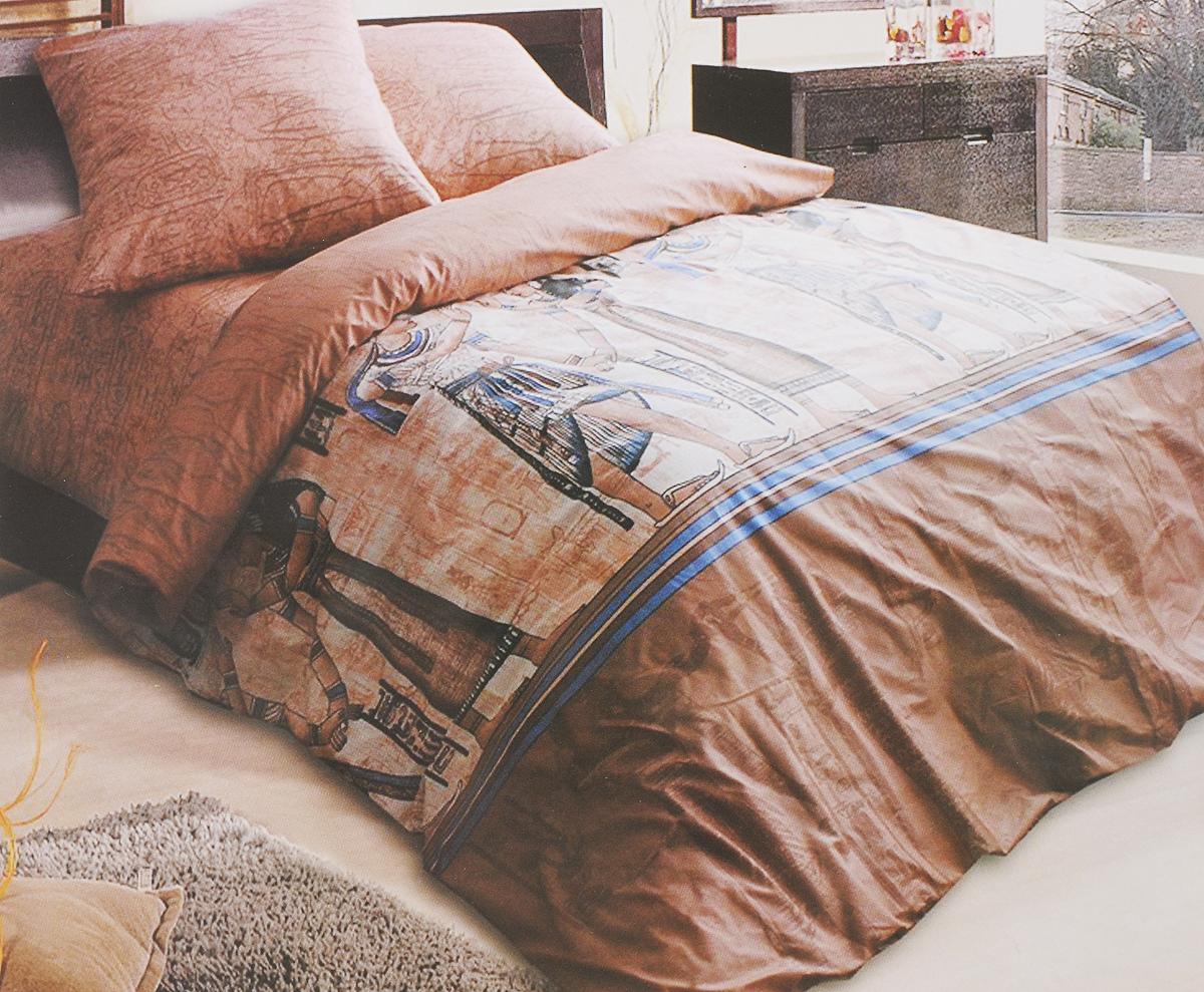 Комплект белья Катюша Фараон, 1,5-спальный, наволочки 70х70, цвет: коричневый, синий, черныйC-129/4241Комплект постельного белья Катюша Фараон является экологически безопасным для всей семьи, так как выполнен из бязи (100% хлопок). Комплект состоит из пододеяльника, простыни и двух наволочек. Постельное белье оформлено оригинальным рисунком и имеет изысканный внешний вид. Бязь - это ткань полотняного переплетения, изготовленная из экологически чистого и натурального 100% хлопка. Она прочная, мягкая, обладает низкой сминаемостью, легко стирается и хорошо гладится. Бязь прекрасно пропускает воздух и за ней легко ухаживать. При соблюдении рекомендуемых условий стирки, сушки и глажения ткань имеет усадку по ГОСТу, сохранятся яркость текстильных рисунков. Приобретая комплект постельного белья Катюша Фараон, вы можете быть уверенны в том, что покупка доставит вам и вашим близким удовольствие и подарит максимальный комфорт.