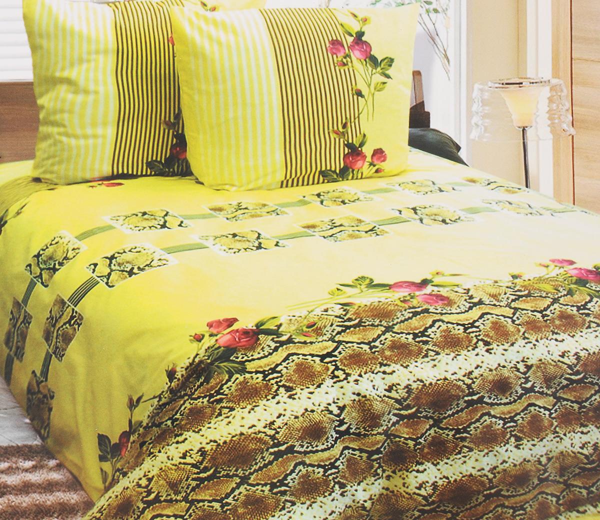 Комплект белья Катюша Клеопатра, 1,5-спальный, наволочки 50х70, цвет: светло-желтый, коричневый, красныйC-264/3954Комплект постельного белья Катюша Клеопатра является экологически безопасным для всей семьи, так как выполнен из бязи (100% хлопок). Комплект состоит из пододеяльника, простыни и двух наволочек. Постельное белье оформлено оригинальным рисунком и имеет изысканный внешний вид. Бязь - это ткань полотняного переплетения, изготовленная из экологически чистого и натурального 100% хлопка. Она прочная, мягкая, обладает низкой сминаемостью, легко стирается и хорошо гладится. Бязь прекрасно пропускает воздух, и за ней легко ухаживать. При соблюдении рекомендуемых условий стирки, сушки и глажения ткань имеет усадку по ГОСТу, сохранятся яркость текстильных рисунков. Приобретая комплект постельного белья Катюша Клеопатра, вы можете быть уверены в том, что покупка доставит вам и вашим близким удовольствие и подарит максимальный комфорт.