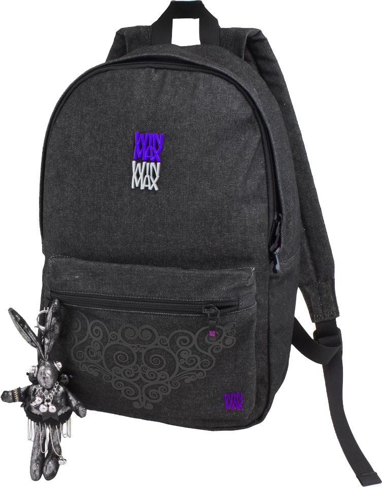 WinMax Рюкзак детский цвет черный фиолетовый K-152K-152Детский рюкзак WinMax, изготовленный из хлопка, оформлен орнаментом из эко- кожи и дополнен брелоком в виде модного зайца. Такой рюкзак будет настоящей изюминкой среди вашего гардероба и выгодно подчеркнет ваш прекрасный вкус. Содержит рюкзак одно вместительное отделение, закрывающееся на застежку-молнию с двумя бегунками. Внутри отделения расположены два кармана - открытый и на застежке-молнии. Лицевая сторона изделия оснащена накладным карманом на молнии. Рюкзак имеет качественные молнии фирмы SBS, фирменные бегунки и фурнитуру. Дополнительными строчками для укрепления прошиты все места, на которые приходятся основные нагрузки. Текстильная ручка предназначена для удобной переноски в руке. Мягкие широкие лямки позволяют легко и быстро отрегулировать рюкзак в соответствии с ростом. Этот рюкзак можно использовать для повседневных прогулок, учебы, отдыха и спорта, а также как элемент вашего имиджа.