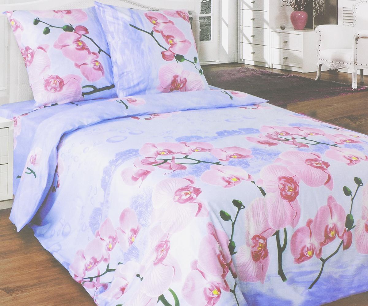 Комплект белья Катюша Орхидея, 2-спальный, наволочки 70х70, цвет: сиреневый, розовый, зеленыйC-115/4560Комплект постельного белья Катюша Орхидея является экологически безопасным для всей семьи, так как выполнен из бязи (100% хлопок). Комплект состоит из пододеяльника, простыни и двух наволочек. Постельное белье оформлено оригинальным рисунком и имеет изысканный внешний вид. Бязь - это ткань полотняного переплетения, изготовленная из экологически чистого и натурального 100% хлопка. Она прочная, мягкая, обладает низкой сминаемостью, легко стирается и хорошо гладится. Бязь прекрасно пропускает воздух и за ней легко ухаживать. При соблюдении рекомендуемых условий стирки, сушки и глажения ткань имеет усадку по ГОСТу, сохранятся яркость текстильных рисунков. Приобретая комплект постельного белья Катюша Орхидея, вы можете быть уверенны в том, что покупка доставит вам и вашим близким удовольствие и подарит максимальный комфорт.