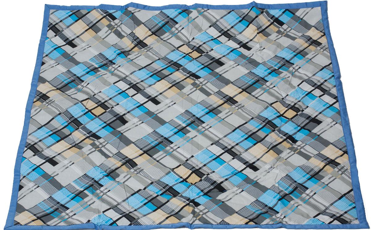 Чудо-Чадо Переносной коврик-сумка цвет голубой клетка