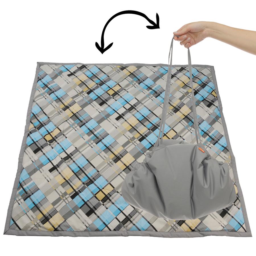 Чудо-Чадо Переносной коврик-сумка цвет серый клетка ( KTR02-017 )
