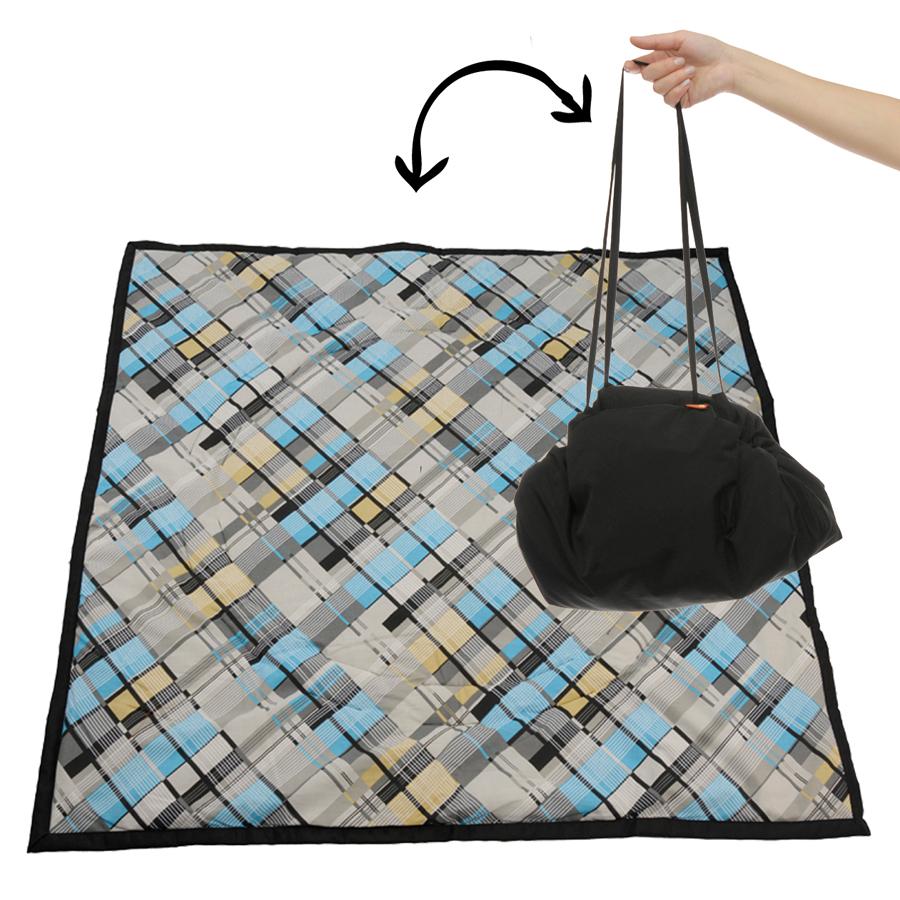 Чудо-Чадо Переносной коврик-сумка цвет черный клетка ( KTR02-018 )
