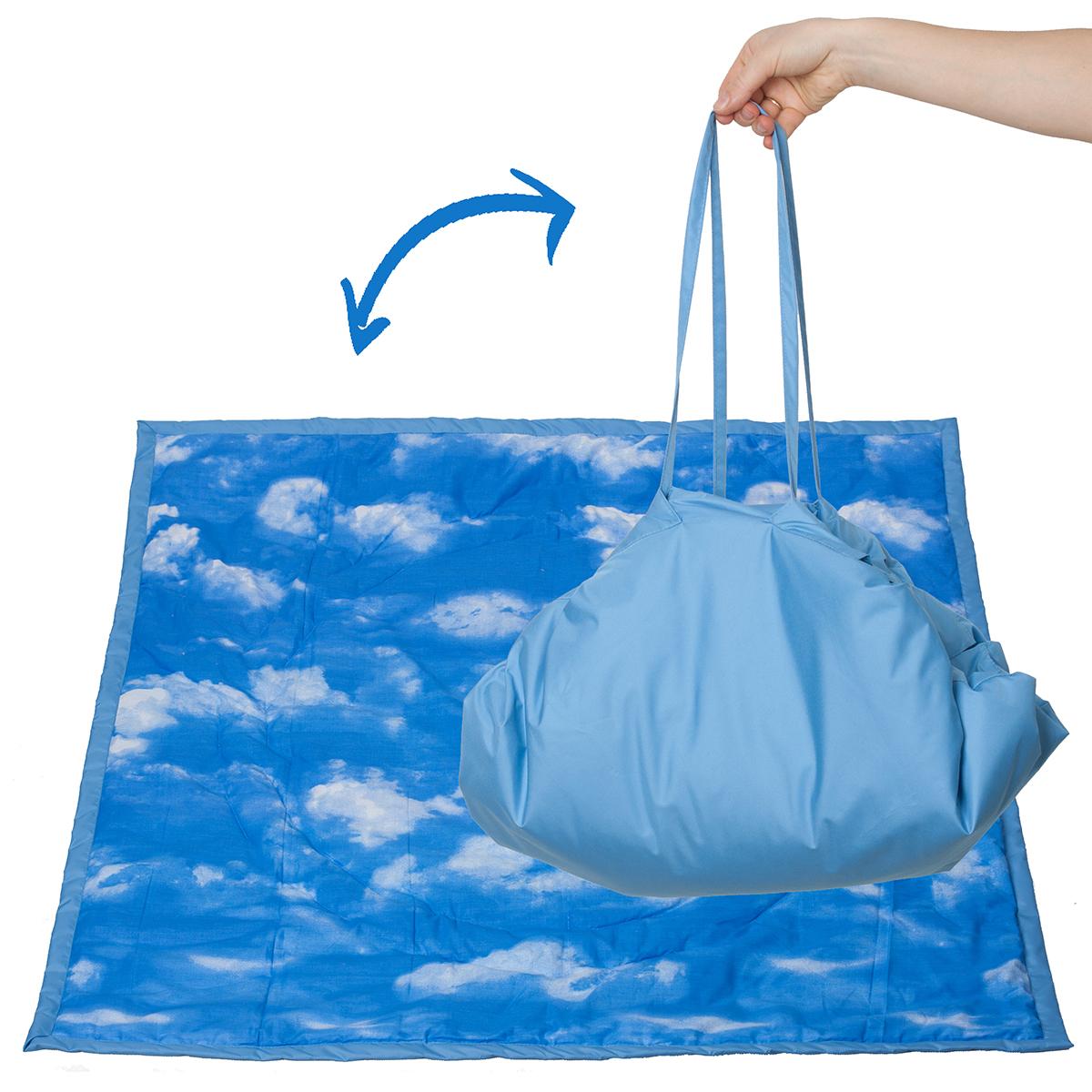 Чудо-Чадо Переносной коврик-сумка цвет голубой облака