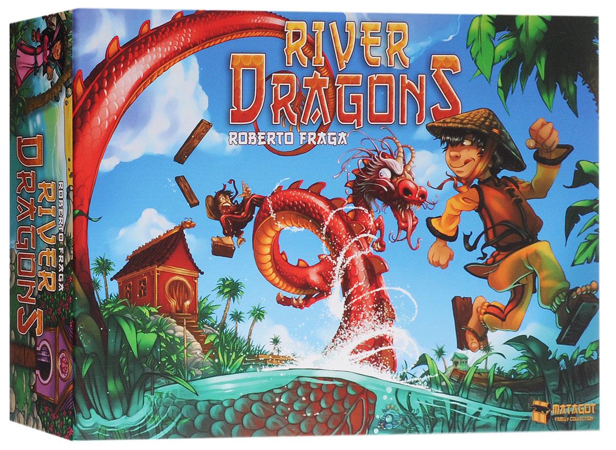 Matagot Настольная игра Речные драконы3760146642126Настольная игра Matagot Речные драконы - это смешная и увлекательная игра с простыми правилами, в которую можно играть большой компанией. Каждый год в дельте Меконга самые храбрые юноши и девушки меряются ловкостью и смекалкой в особом состязании: строя мосты из досок и камней, они пытаются пересечь реку и как можно быстрее добраться до деревни на другом берегу. Для этого им приходится тщательно рассчитывать свои действия, чтобы не столкнуться с противниками на узких досках и не встретиться с драконами Меконга. По мере действия игры, дельта Меконга превратится в настоящий лабиринт из мостиков, которые могут приводить участников вовсе не туда, куда им первоначально хотелось попасть. Храбрец, который первым доберется до места назначения, получит статуэтку золотого дракона из рук самого императора! Время игры: 25 минут. Состав игры: 1 игровое поле, 78 карт действия (по 13 каждого цвета), 6 фишек: 3 девушки и 3 юноши разных цветов, 36 пронумерованных досок 6 размеров (по 6...