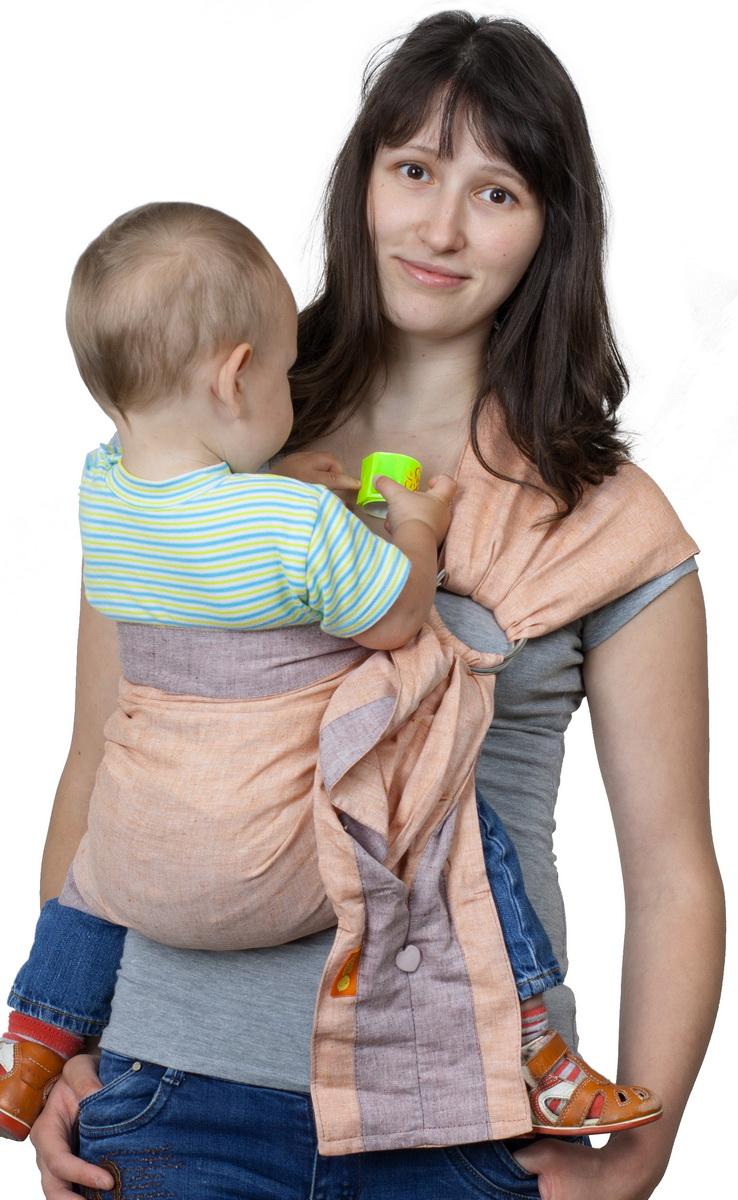 Чудо-Чадо Слинг с кольцами Дуэт цвет медный Размер S (до 46)СКД01-00SПозволяет носить малыша с рождения и до полутора-двух лет. Специально подобранные материалы Преимущества: Легкая, натуральная, дышащая ткань (лен 100%) Плотно облегает малыша и за счет бандажного эффекта снимает нагрузку с неокрепшего позвоночника Отсутствие синтепоновых бортиков исключает ошибки при выборе размера Бортики уплотнены для более комфортной носки и регулировки Широкое мягкое плечо со специальными складками облегает плечевой сустав и делает ношение более комфортным Особенности: Хвост слинга заделан в виде удобного вместительного кармашка на пуговке Ширина 65 см Кольца несъемные Материал: лен 100% Единоразмерный, подходит для размеров от 40го до 54го российского (разница будет только в длине оставшегося свободного хвоста).