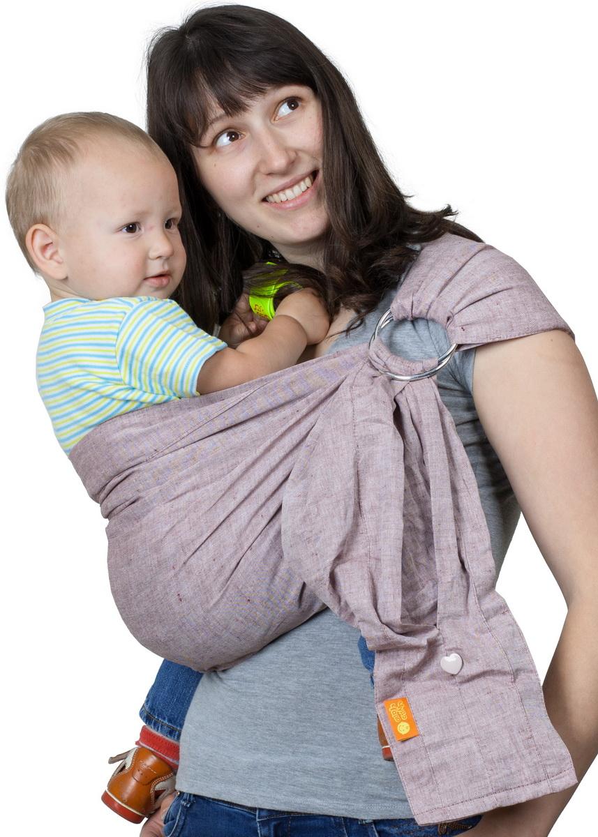 Чудо-Чадо Слинг с кольцами Ноктюрн цвет сепия Размер S (до 46)СКН04-00SПреимущества: Легкая, натуральная, дышащая ткань (лен 100%) Плотно облегает малыша и за счет бандажного эффекта снимает нагрузку с неокрепшего позвоночника Мягкие бортики (валики) создают малышу дополнительный комфорт Широкое мягкое плечо со специальными складками облегает плечевой сустав и делает ношение более комфортным Особенности: Хвост слинга заделан в виде двойного вместительного кармашка Ширина 65 см Перед использованием рекомендуется пару раз постирать и хорошо прогладить утюгом – слинг приобретет особую мягкость Хвост заделан в виде двойного вместительного кармана (с лицевой стороны – на пуговке, на обратной стороне – без застежки) Кольца несъемные