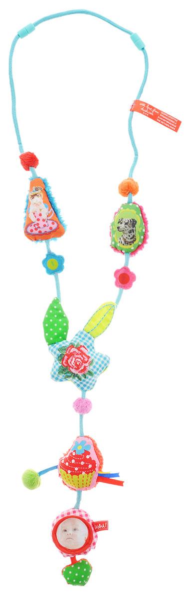 Dushi Ожерелье для мамы Ностальгия02601Ожерелье для мамы Dushi Ностальгия - это мудрая и оригинальная разработка дизайнеров, которая была оценена по достоинству мамами во всем мире. Эта полезная игрушка облегчает непростые заботы мамы о малыше в различных ситуациях. Даже самый непоседливый кроха моментально увлечется игрой с нежными текстильными частями ожерелья, различными полосочками и ярлычками, маленьким зеркальцем или мягкой звездочкой, которую так увлекательно щупать пальчиками. Вместо того чтобы крошечные ручки теребили ваши дорогие украшения, дизайнерские сережки или родинки на шее, добычей малыша станет специально созданное для развития детских пальчиков ожерелье. Ожерелье разработано прежде всего из соображений безопасности: мягкое, без жестких частей, острых краев и бусин, которые могут оторваться. Какой маме не знакома следующая ситуация: именно в тот момент, когда нужно, чтобы малыш тихо посидел на ручках, в коляске или слинге и немного подождал, он выдает бурю эмоций и не хочет более пребывать в...