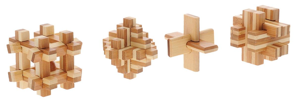 Professor Puzzle Набор головоломок Бамбузлеры 4 шт5060036530877The Bamboozlers Range - это лучшие классические головоломки, изготовленные и упакованные совершенно по-новому. Откуда такое забавное название? Да просто эти головоломки сделаны из бамбука. Бамбук - это самое быстрорастущее растение на планете, за 3-5 лет он вырастает до состояния, пригодного для использования (а обычное дерево только за 20-70 лет), он прочнее дуба, а бамбуковые леса выделяют больше кислорода. На протяжении тысяч лет бамбук использовался как материал для строительства и изготовления разных предметов. А в настоящее время из бамбука делают ещё и отличные головоломки! Набор головоломок Professor Puzzle Бамбузлеры включает в себя 4 разные головоломки. Время игры: 30-50 минут.