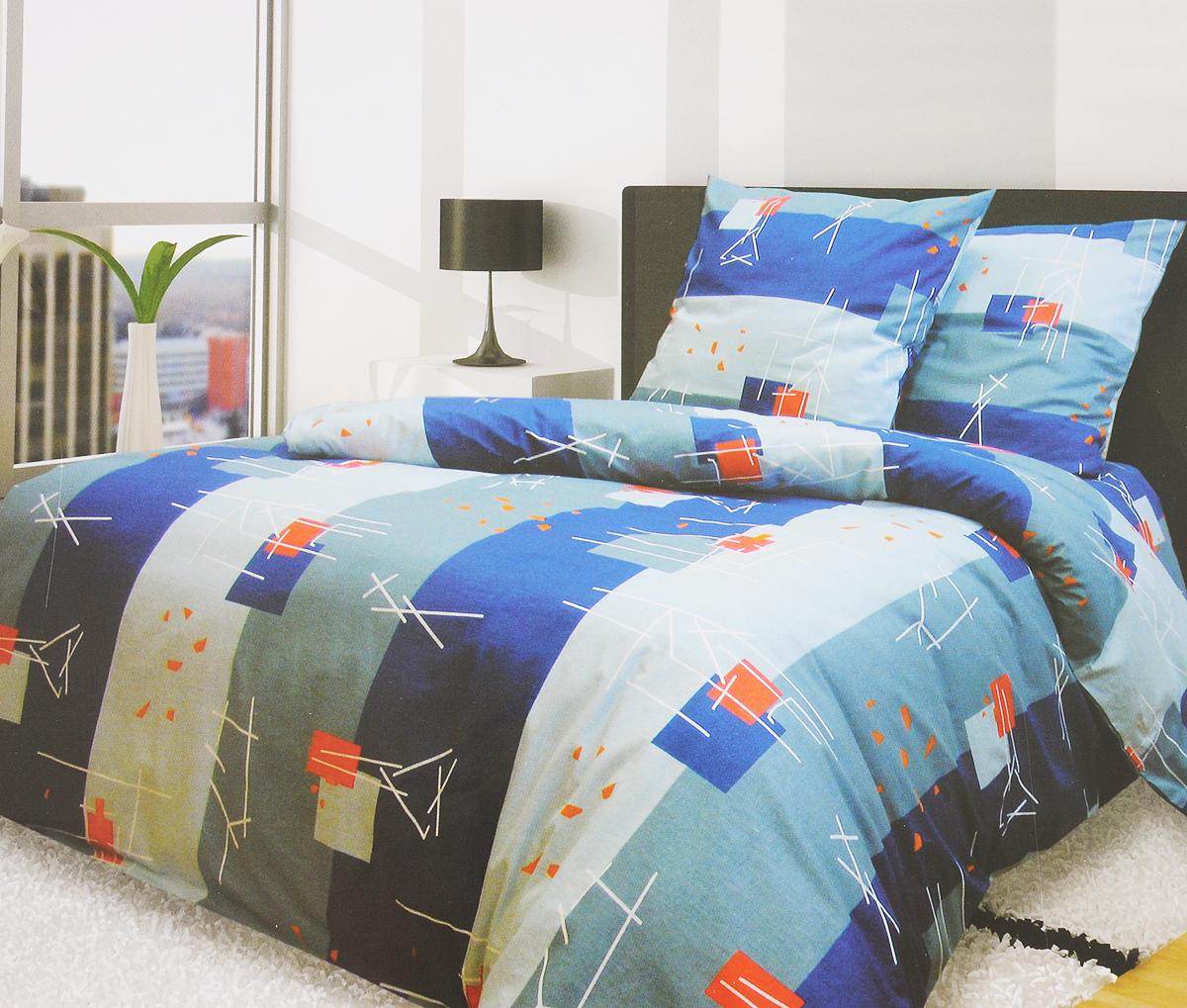 Комплект белья Катюша Хайтек, 2-спальный, наволочки 70х70, цвет: синий, красныйC-115/3927Комплект постельного белья Катюша Хайтек является экологически безопасным для всей семьи, так как выполнен из бязи (100% хлопок). Комплект состоит из пододеяльника, простыни и двух наволочек. Постельное белье оформлено оригинальным рисунком и имеет изысканный внешний вид. Бязь - это ткань полотняного переплетения, изготовленная из экологически чистого и натурального 100% хлопка. Она прочная, мягкая, обладает низкой сминаемостью, легко стирается и хорошо гладится. Бязь прекрасно пропускает воздух и за ней легко ухаживать. При соблюдении рекомендуемых условий стирки, сушки и глажения ткань имеет усадку по ГОСТу, сохранятся яркость текстильных рисунков. Приобретая комплект постельного белья Катюша Хайтек, вы можете быть уверенны в том, что покупка доставит вам и вашим близким удовольствие и подарит максимальный комфорт.