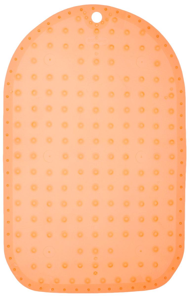BabyOno Коврик противоскользящий для ванной цвет оранжевый 70 х 35 см1346_оранжевыйПротивоскользящий коврик BabyOno предназначен для детских ванночек, ванн и душевых кабин. Имеет присоски, исключающие перемещение коврика по поверхности. Для правильного закрепления коврика следует сначала наполнить ванну водой, а затем вложить коврик и равномерно прижать с каждой стороны. Во время купания ребенок должен находиться под постоянным присмотром взрослого. Перед первым и после каждого купания коврик следует промыть в теплой воде с добавлением детского мыла, ополоснуть и высушить. Изделие не является игрушкой. Хранить в месте, недоступном для детей. Не содержит фталатов. Товар сертифицирован.