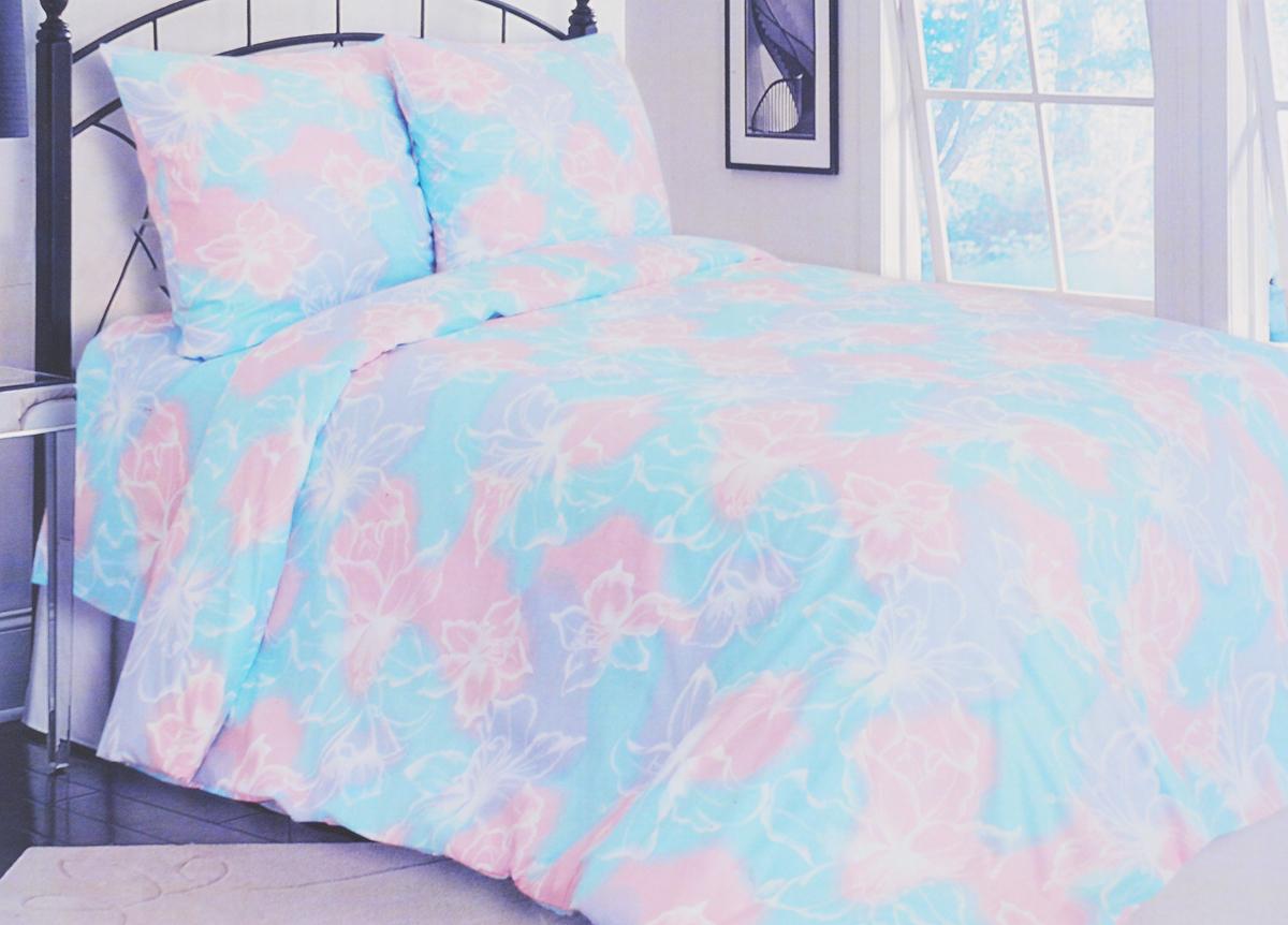 Комплект белья Блакiт Нежность, 1,5-спальный, наволочки 70х70, цвет: голубой, розовый, сиреневый21483851Комплект постельного белья Блакiт Нежность является экологически безопасным для всей семьи, так как выполнен из бязи (100% хлопок). Комплект состоит из пододеяльника, простыни и двух наволочек. Постельное белье оформлено оригинальным рисунком и имеет изысканный внешний вид. Бязь - это ткань полотняного переплетения, изготовленная из экологически чистого и натурального 100% хлопка. Она прочная, мягкая, обладает низкой сминаемостью, легко стирается и хорошо гладится. Бязь прекрасно пропускает воздух и за ней легко ухаживать. При соблюдении рекомендуемых условий стирки, сушки и глажения ткань имеет усадку по ГОСТу, сохранятся яркость текстильных рисунков. Приобретая комплект постельного белья Блакiт Нежность, вы можете быть уверенны в том, что покупка доставит вам и вашим близким удовольствие и подарит максимальный комфорт.