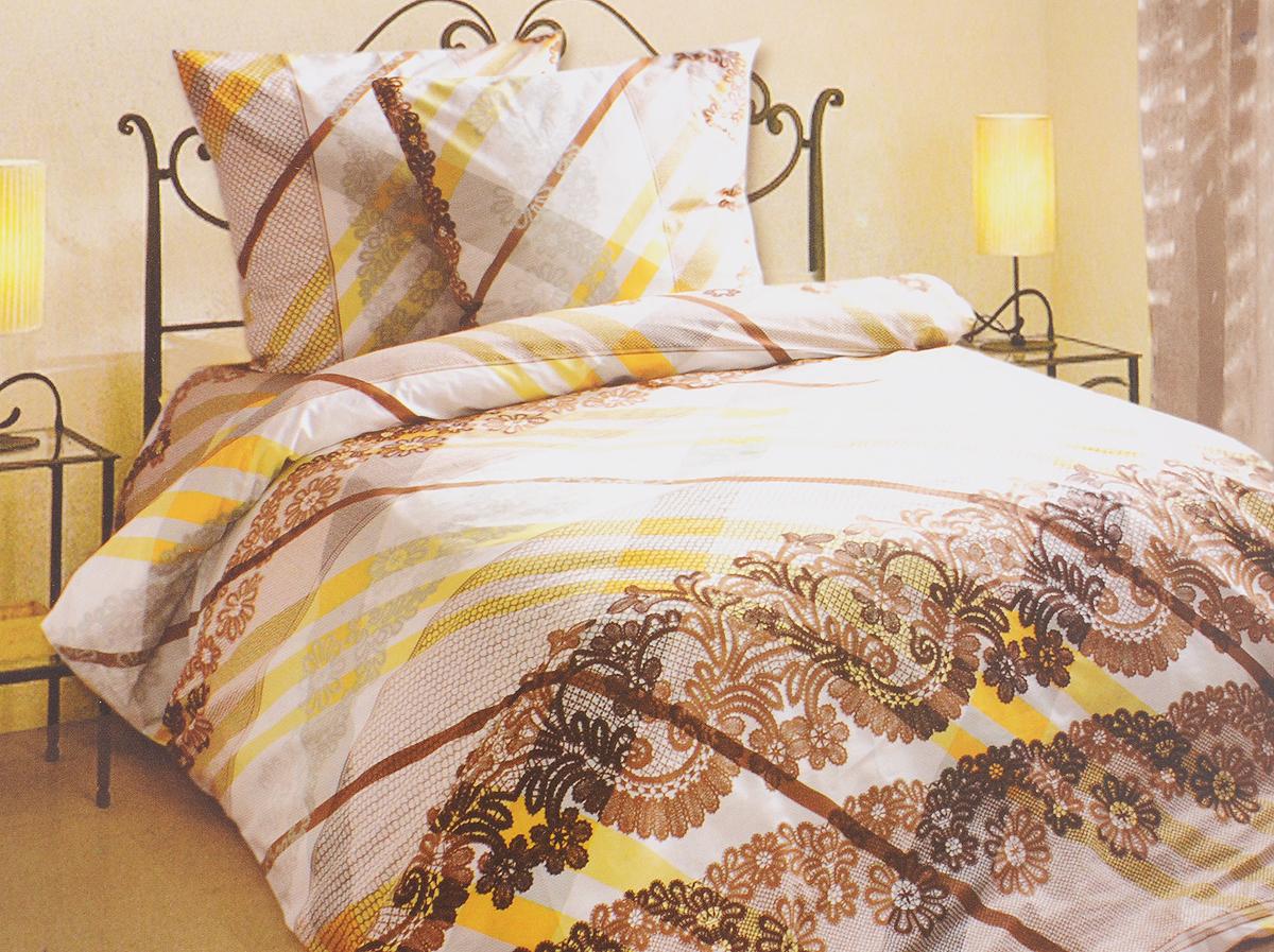 Комплект белья Блакiт Фландрия, семейный, наволочки 50х70, цвет: желтый, коричневый, белый35174161Комплект постельного белья Блакiт Фландрия является экологически безопасным для всей семьи, так как выполнен из бязи (100% хлопок). Комплект состоит из двух пододеяльников, простыни и двух наволочек. Постельное белье оформлено оригинальным рисунком и имеет изысканный внешний вид. Бязь - это ткань полотняного переплетения, изготовленная из экологически чистого и натурального 100% хлопка. Она прочная, мягкая, обладает низкой сминаемостью, легко стирается и хорошо гладится. Бязь прекрасно пропускает воздух и за ней легко ухаживать. При соблюдении рекомендуемых условий стирки, сушки и глажения ткань имеет усадку по ГОСТу, сохранятся яркость текстильных рисунков. Приобретая комплект постельного белья Блакiт Фландрия, вы можете быть уверенны в том, что покупка доставит вам и вашим близким удовольствие и подарит максимальный комфорт.