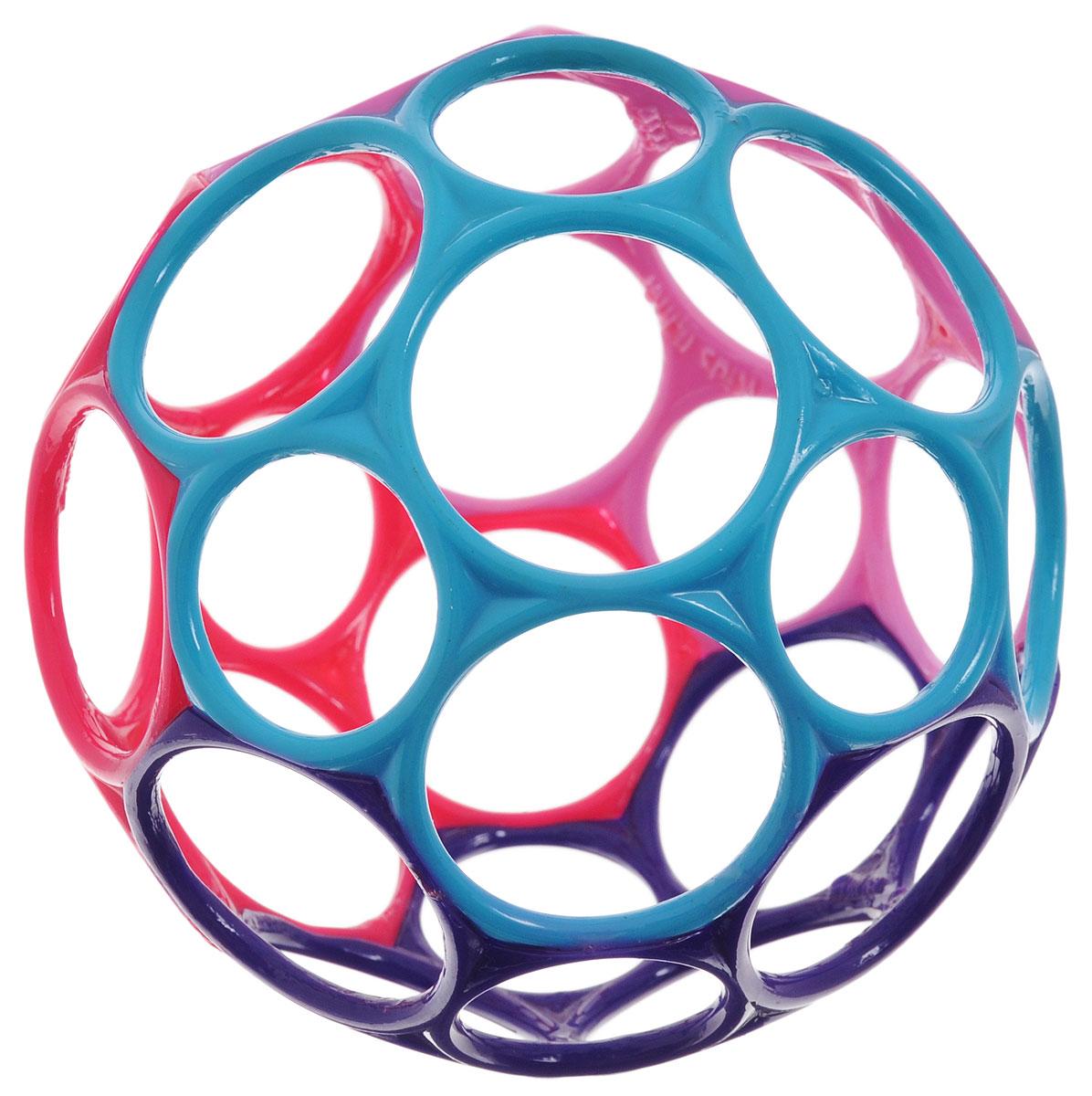 Oball Развивающая игрушка Мячик цвет фиолетовый голубой розовый