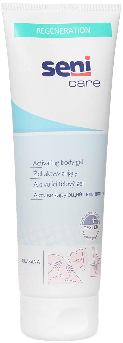 Seni Care Гель для тела активизирующий 250 млSE-231-T250-221Активизирующий гель для тела Seni Care улучшает микроциркуляцию крови в коже и активизирует обменные процессы в ней, увлажняет и успокаивает кожу, снимает мышечное напряжение. Содержит натуральные компоненты антисептического действия. Способ применения: нанести на предварительно очищенную сухую кожу легкими массирующими движениями. Можно применять 1-2 раза в день. Не наносить на поврежденную кожу. Характеристики: Объем: 250 мл. Размер упаковки: 4,8 см х 7,3 см х 19,8 см. Артикул: SE-231-T250-221. Товар сертифицирован. УВАЖАЕМЫЕ КЛИЕНТЫ! Обращаем ваше внимание на возможные изменения в дизайне упаковки. Поставка осуществляется в одном из двух приведенных вариантов упаковок в зависимости от наличия на складе. Комплектация осталась без изменений.