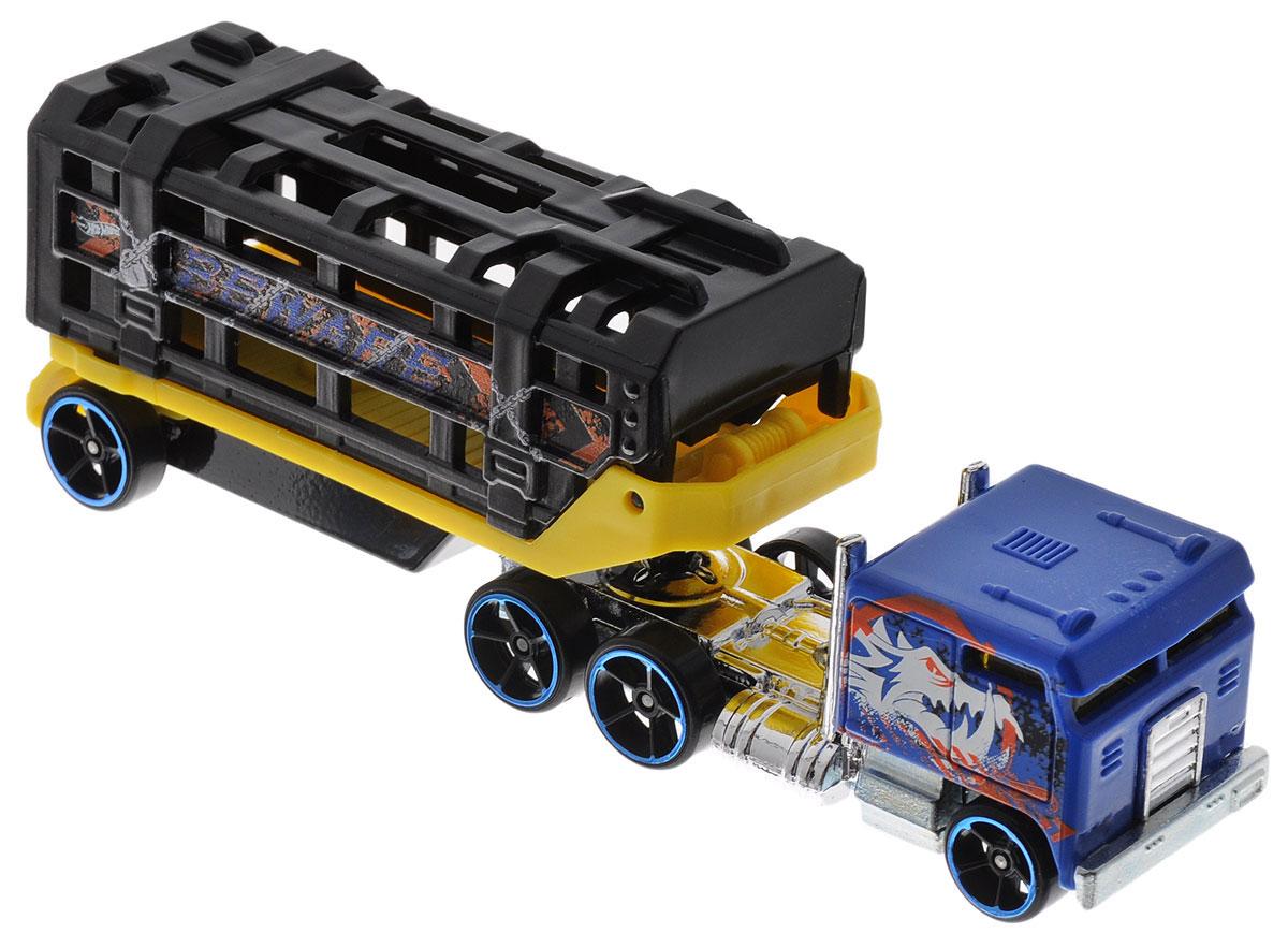 Hot Wheels Track Stars Трейлер Caged CargoBFM60_BFM61Трейлеры Hot Wheels Track Stars готовы к гонкам! Мальчикам понравится их коллекционировать, ведь модели можно комбинировать, меняя кабины и прицепы между другими грузовиками серии. Благодаря ярким цветам и реалистичности трейлеры готовы покорять новые дороги! В комплект входит машинка и трейлер. Ваш ребенок часами будет играть с машинками, придумывая различные истории и устраивая соревнования. Порадуйте его таким замечательным подарком!