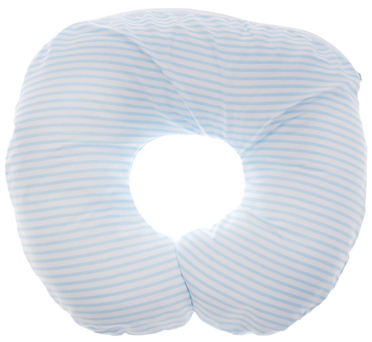Selby Подушка-воротник для младенца Полоски цвет голубой белый 30 х 25 см