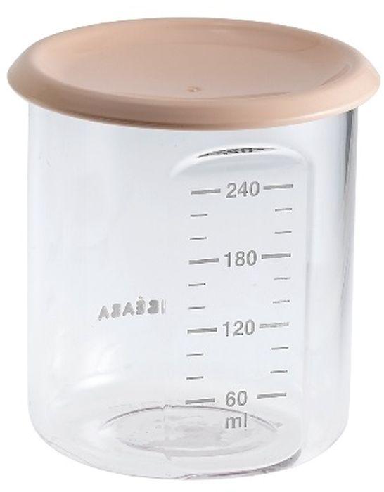 Beaba Контейнер для детского питания 240 мл цвет персиковый912474Полностью герметичные емкости для детей с разными аппетитами. Можно использовать для замораживания пищи. Подходят для микроволновой печи и посудомоечной машины. Без бесфинола А