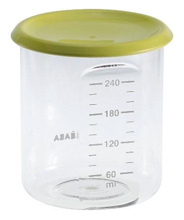 Beaba Контейнер для детского питания 240 мл цвет зеленый912474Полностью герметичные емкости для детей с разными аппетитами. Можно использовать для замораживания пищи. Подходят для микроволновой печи и посудомоечной машины. Без бесфинола А