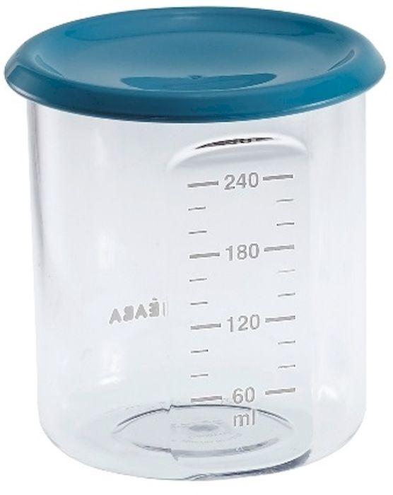 Beaba Контейнер для детского питания 240 мл цвет голубой912474Полностью герметичные емкости для детей с разными аппетитами. Можно использовать для замораживания пищи. Подходят для микроволновой печи и посудомоечной машины. Без бесфинола А