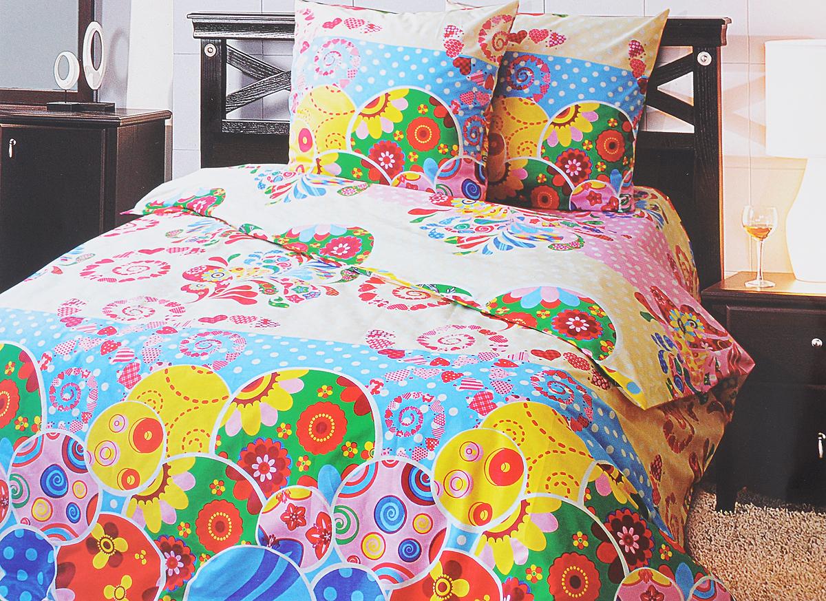 Комплект белья Блакiт Сказка, 2-спальный, наволочки 50х70, цвет: голубой, молочный, розовый35164457Комплект постельного белья Блакiт Сказка является экологически безопасным для всей семьи, так как выполнен из бязи (100% хлопок). Комплект состоит из пододеяльника, простыни и двух наволочек. Постельное белье оформлено оригинальным рисунком и имеет изысканный внешний вид. Бязь - это ткань полотняного переплетения, изготовленная из экологически чистого и натурального 100% хлопка. Она прочная, мягкая, обладает низкой сминаемостью, легко стирается и хорошо гладится. Бязь прекрасно пропускает воздух и за ней легко ухаживать. При соблюдении рекомендуемых условий стирки, сушки и глажения ткань имеет усадку по ГОСТу, сохранятся яркость текстильных рисунков. Приобретая комплект постельного белья Блакiт Сказка, вы можете быть уверенны в том, что покупка доставит вам и вашим близким удовольствие и подарит максимальный комфорт.