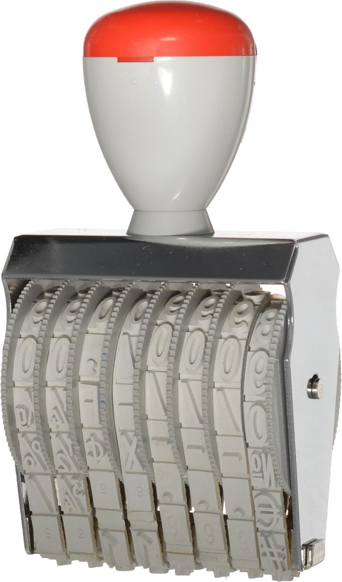 Trodat Нумератор ленточный восьмиразрядный 9 мм1598Самонаборный однострочный восьмиразрядный нумератор Trodat будет незаменим в отделе кадров или в бухгалтерии любой компании. Компактный, но прочный пластиковый корпус гарантирует долговечное бесперебойное использование. Модель отличается высочайшим удобством в использовании и оптимально ложится в руку благодаря эргономичной ручке. Оттиск проставляется практически бесшумно, легким нажатием руки. Улучшенная конструкция и видимая площадь печати гарантируют качество и точность оттиска. Высота шрифта - 9 мм. Trodat - идеальный штамп для ежедневного использования в офисе, гарантирующий получение чистых и четких оттисков. Подходит к самым разным требованиям в повседневной офисной жизни.
