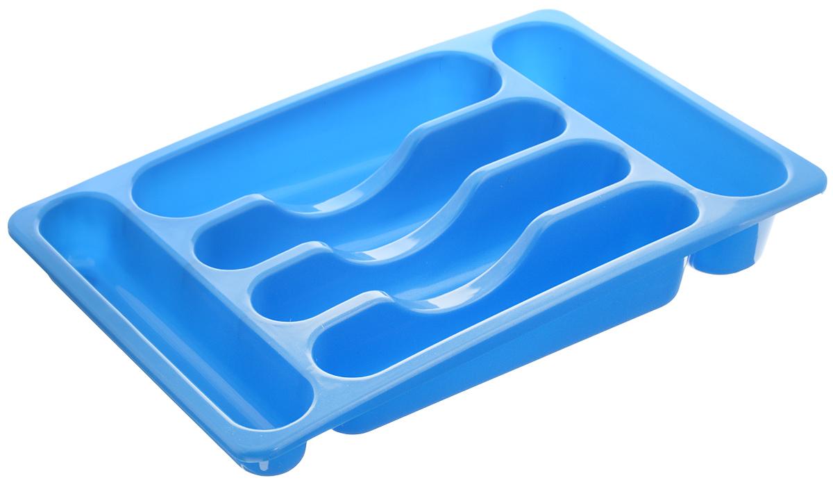 Подставка для столовых приборов Oriental Way, цвет: синий, 39 х 24 х 6,5 см154EH_синийПодставка Oriental Way, выполненная из высококачественного пластика, станет полезным приобретением для вашей кухни. Подставка имеет шесть отделений для разных видов столовых приборов. Такую подставку вы можете вложить в кухонный ящик и удобно расположить все столовые приборы. Каждая хозяйка знает, что подставка для столовых приборов - это незаменимый и очень полезный аксессуар на каждой кухне.
