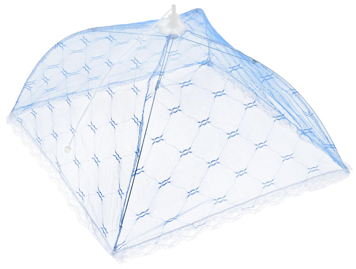 Зонт для продуктов Мультидом, цвет: синий, белый, 41 х 41 х 25 смFY84-16_синий, белыйЗонт для продуктов Мультидом изготовлен из полиэстеровой сетки с каркасом из пластика и металла. Изделие выполнено в виде квадратного купола, который легко собирается и разбирается. Таким зонтом очень удобно пользоваться на природе, он защитит ваши продукты от назойливых насекомых. Размер (в собранном виде): 41 х 41 х 25 см. Длина зонта (в сложенном виде): 42 см.